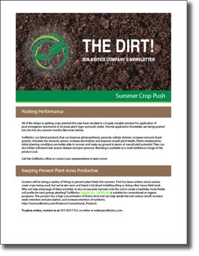 Summer Crop Push 2019 Newsletter