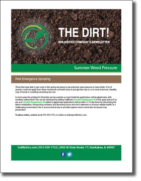 Summer Weed Pressure 2019 Newsletter