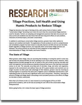 Tillage Soil Health Humic Products